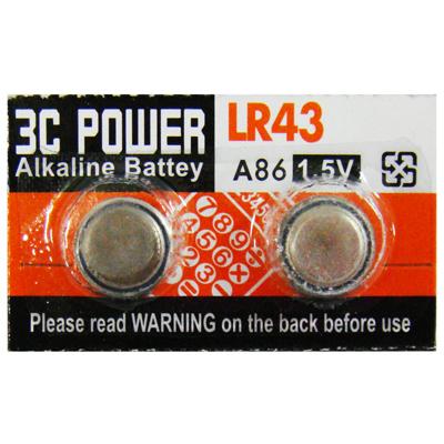 【文具通】水銀電池 LR43/186 Q2010050