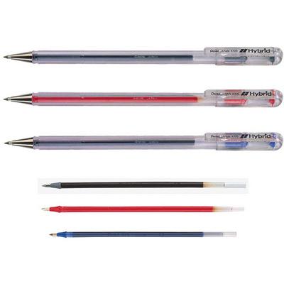 【文具通】Pentel 飛龍 Hybrid中性筆 筆芯 KF5-A 黑 S1010075