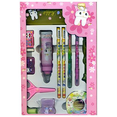 【文具通】吉妮兔13件筆盒文具組4500237 T4010273