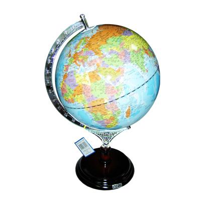 【文具通】木質底座地球儀10吋39cm W3010005
