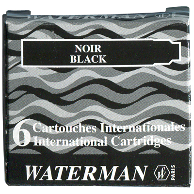 【文具通】WATERMAN 袖珍型卡式墨水-6入黑 WTM-W0110940