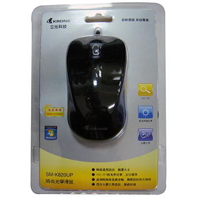 【文具通】KRONE 立光 光學滑鼠 黑SM-K820UP ZDMSM-K820UP-P