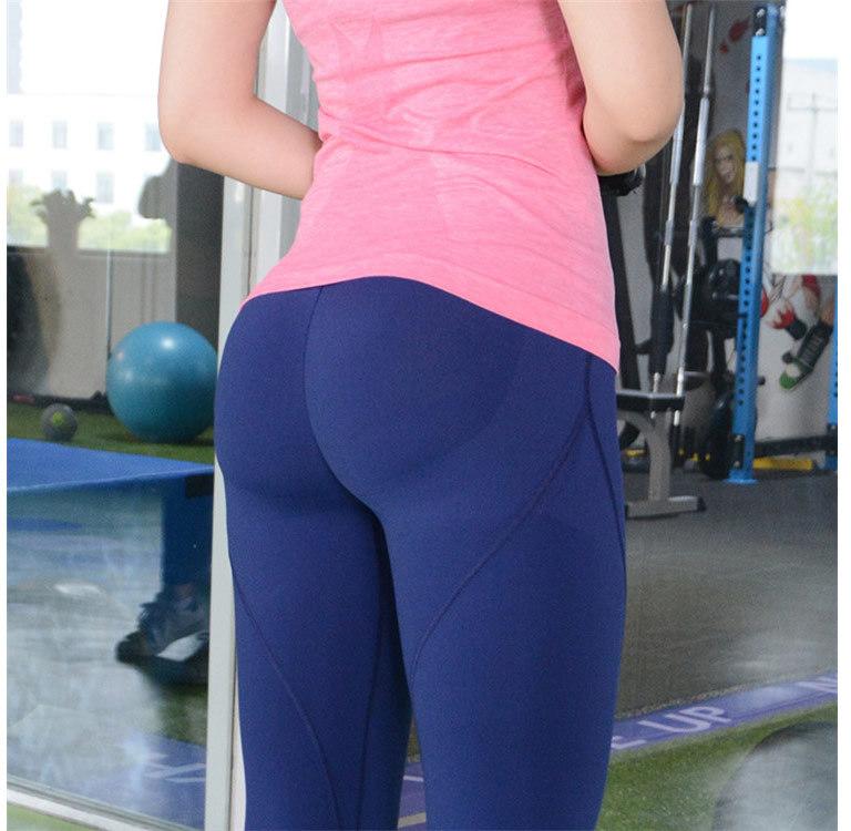 意大利翹臀褲高彈力休閒運動長褲蜜桃褲提臀褲矽膠防滑翹臀提臀