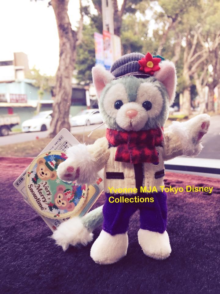 *Yvonne MJA日本代購*東京迪士尼Disney海洋樂園限定正品Gelatoni傑拉東尼畫家絕版耶誕版站立吊飾娃