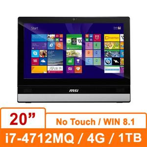 MSI 微星Adora20 2M-035TW-S74724G1T0S81MANX 銀 AIO 電腦 20吋/Core i7-4712MQ/4G/1TB/UMA/Win8.1/No Touch