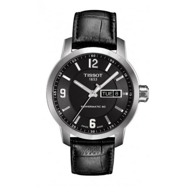 TISSOT天梭T0554301605700  PRC200動力儲存80小時機械腕錶/黑面39mm