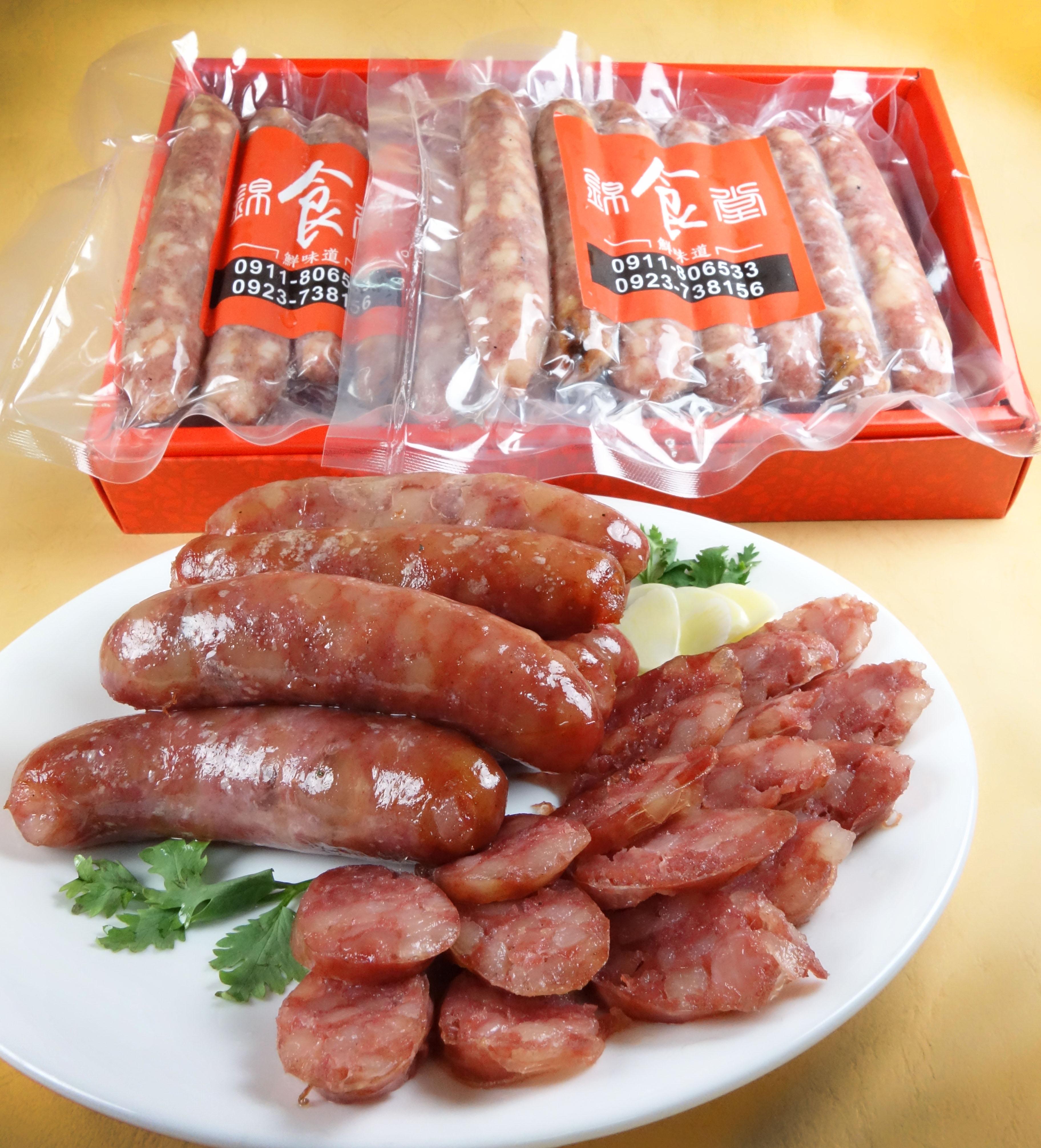 紅麴原味香腸禮盒1斤/盒   (600g/12-13條)