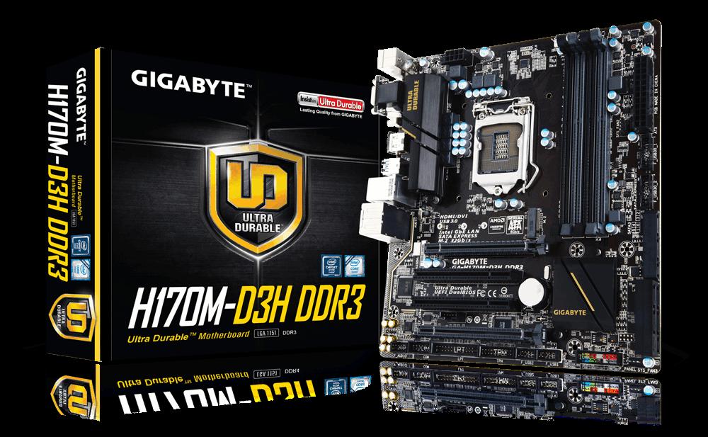 技嘉 H170M-D3H DDR3  主機板