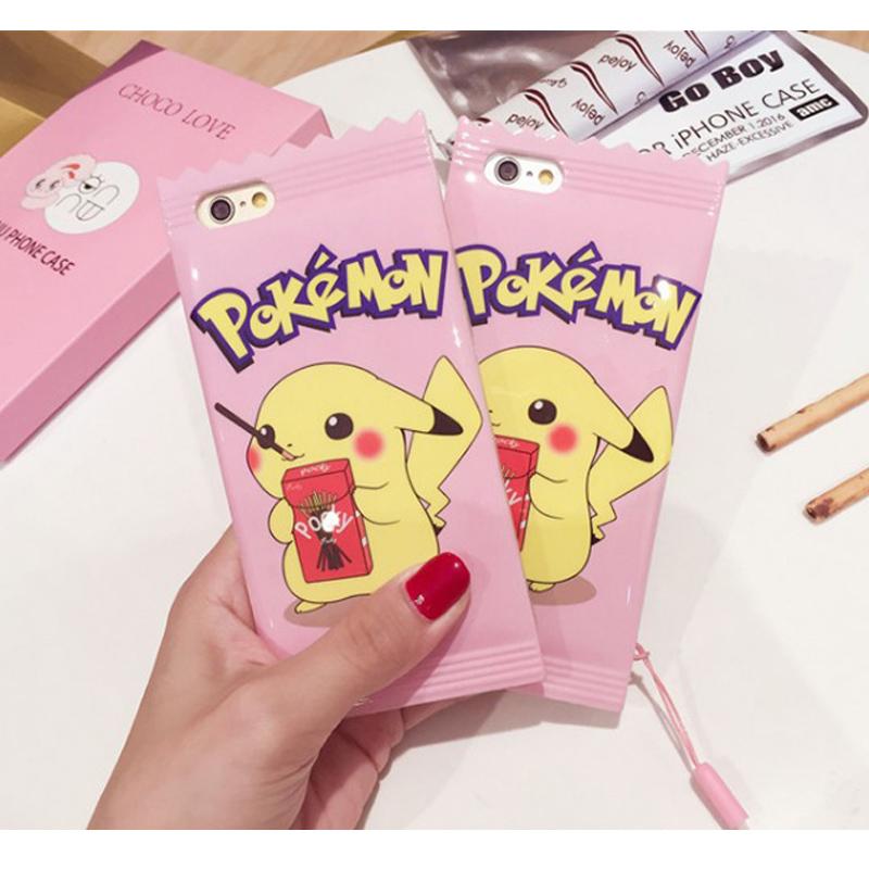 Pokemon 餅乾糖果包裝皮卡丘手機保護殼 Apple iPhone 6S/6S Plus 神奇寶貝 精靈寶可夢