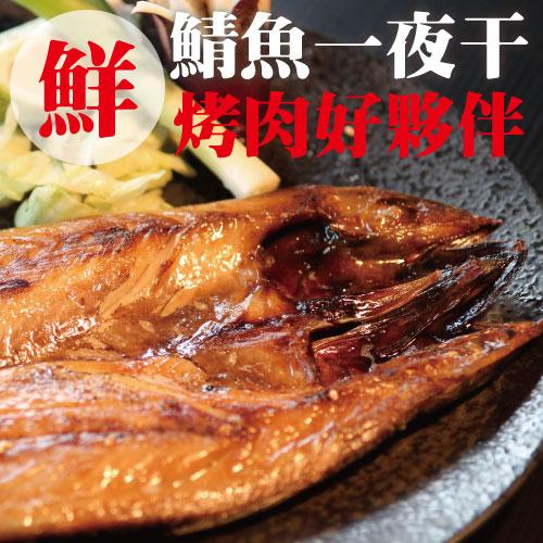 【買二送一】超厚挪威鯖魚一夜干。約300g±10%/包。肉質細膩 新鮮肥美。烤肉/香煎