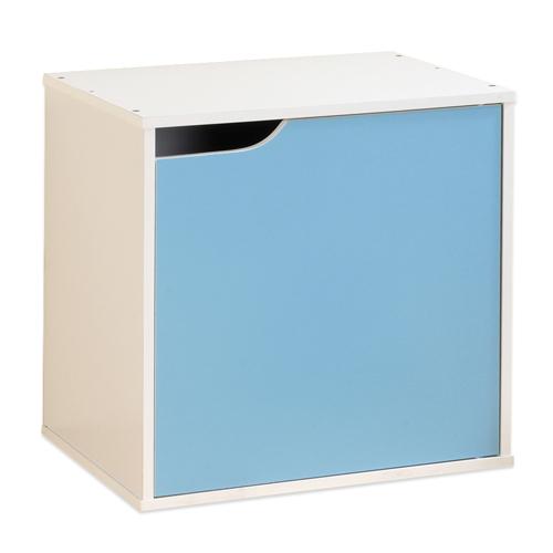 《Hopma》白配水藍單門收納櫃