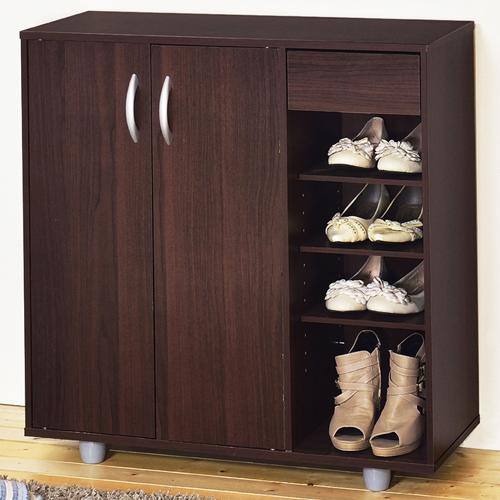 《Hopma》胡桃木色二門一抽鞋櫃