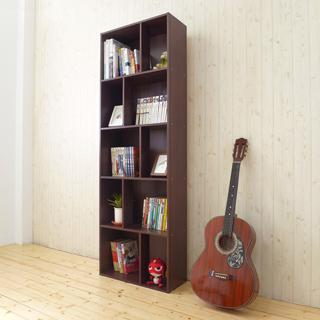 《Hopma》胡桃木色多功能五層書櫃