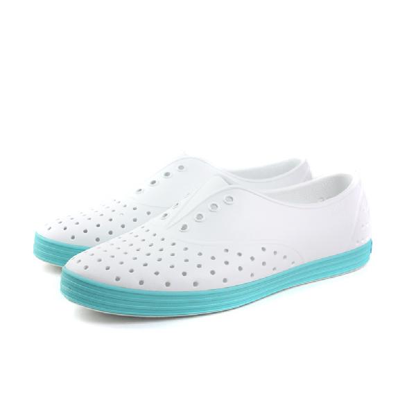 native JERICHO 洞洞鞋 女鞋 白綠色 no409