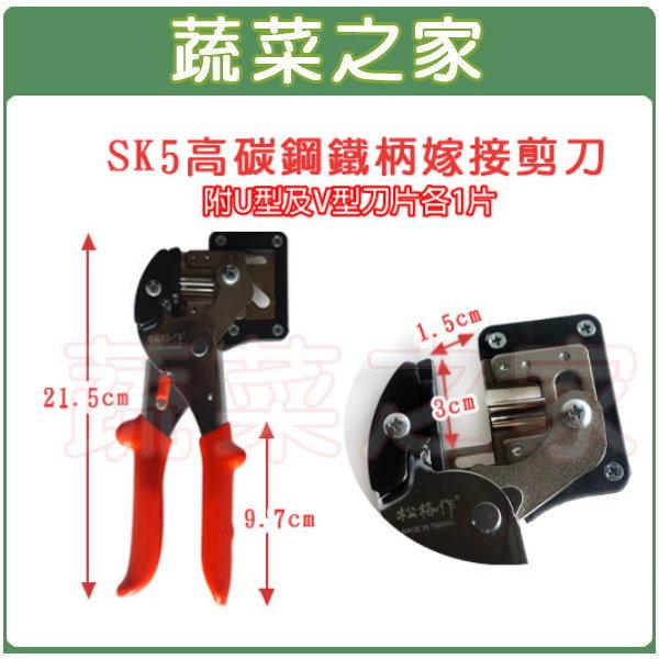 【蔬菜之家009-A08】SK5高碳鋼鐵柄嫁接剪刀(型號A400A)