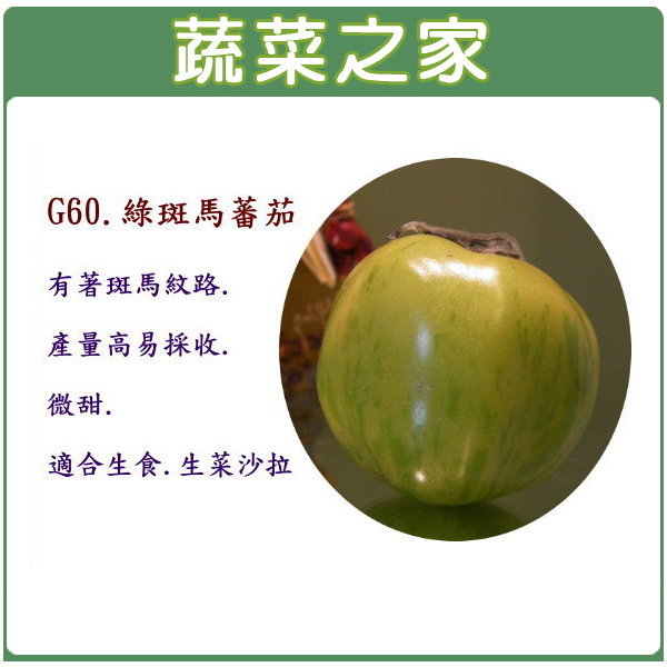 【蔬菜之家】G60.綠斑馬蕃茄15顆