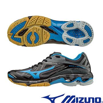 V1GA160023(黑X藍﹞WAVE LIGHTNING Z2 高階輕量排球鞋  A【美津濃MIZUNO】