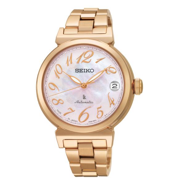 Seiko Lukia 4R35-00J0P(SRP870J1)林依晨廣告款粉麗玫瑰金機械腕錶/粉貝面33mm