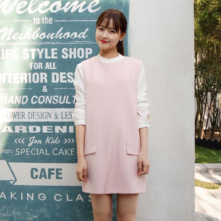【正韓1折up,即將完售!】CHERRYKOKO 氣質無袖圓領洋裝 粉紅 tonic ops-
