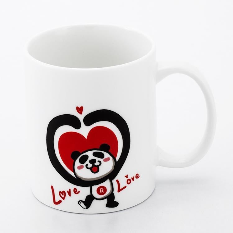 Rakuten 樂天幸運小熊馬克杯-love love款 白