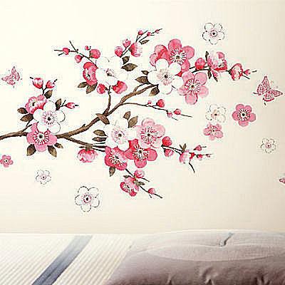 BO雜貨【YP1813】創意可移動壁貼 牆貼 背景貼 壁貼樹 花 時尚組合壁貼 璧貼 梅花樹