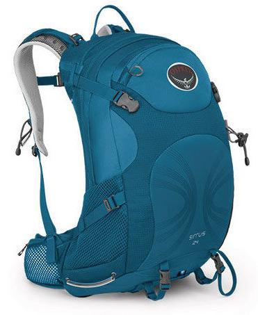 美國 Osprey Sirrus 24L 透氣健行背包 (附防水背包套) 高峰藍 023624|登山?
