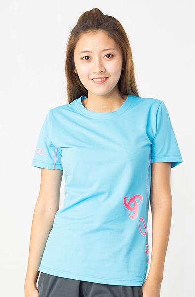 【桃源戶外】Odlo─391431女圓領短袖T恤『淺藍』
