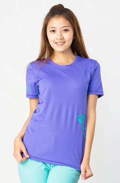 【桃源戶外】Odlo─391431女圓領短袖T恤『藍紫』