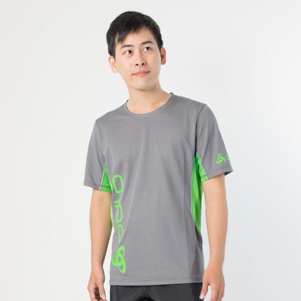 【桃源戶外】Odlo─391432男圓領短袖T恤『灰綠』