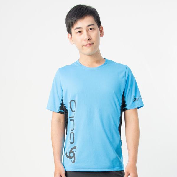 【桃源戶外】Odlo─391432男圓領短袖T恤『亮藍』