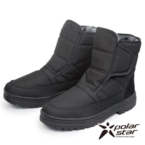PolarStar 保暖雪靴 男 黑 P13622