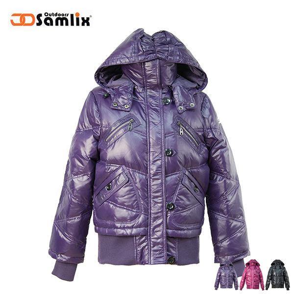 【桃源戶外】山力士 羽絨外套│防風│保暖│防潑水│時尚女外套 PX34211『紫』