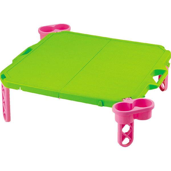 CAPTAIN STAG 鹿牌 得心應手餐桌 63*63cm 綠/粉紅 D2920 日本製造 露營 野餐 戶外