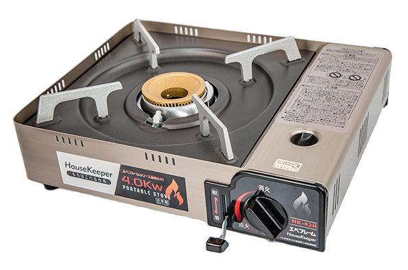 【日本製】 HouseKeeper 妙管家 頂級防風瓦斯爐 HK-42H|卡式瓦斯爐 4.0kw stove 附收納袋 (非岩谷 Iwatani CB-AH-41)