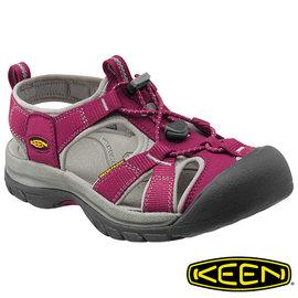 桃源戶外 Keen Venice H2 女護趾水陸兩用鞋 暗紅/灰 1012238