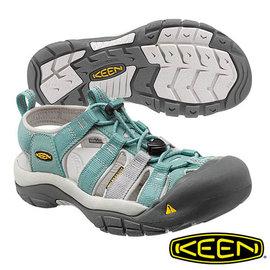 Keen Newport H2 女 護趾水陸兩用涼鞋 灰藍/淺灰 1012222
