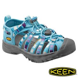 Keen Whisper 兒童護趾水陸兩用鞋 粉藍/彩色 1012311