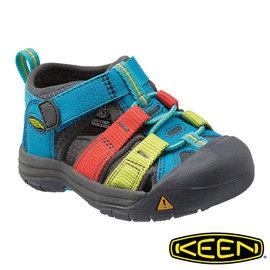Keen Newport H2 兒童護趾水陸兩用鞋 土耳其藍/彩色 1012293