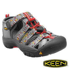Keen Newport H2 兒童護趾水陸兩用鞋 淺灰/印花 1012298