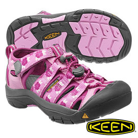 Keen Newport H2 兒童護趾水陸兩用鞋 紫紅/印花 1012291