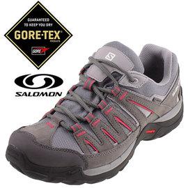 Salomon NORWOOD 女 GTX 登山健行鞋 錫灰/粉紅 戶外|登山鞋 373168