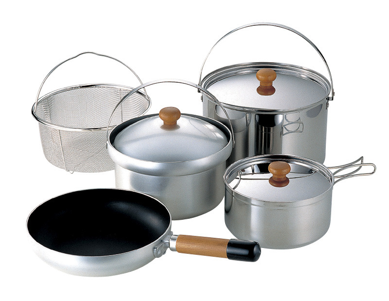 UNIFLAME Fan 5 DX 不鏽鋼/鋁合金鍋組 5人份 660232 居家 露營 炊事
