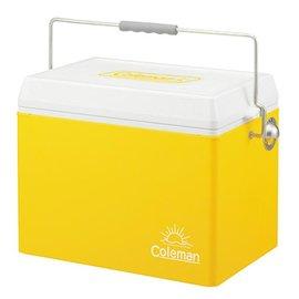 桃源戶外 Coleman (限量)亮黃復古鋼甲冰箱 26.5L |保冷|保溫|冰桶 CM-711