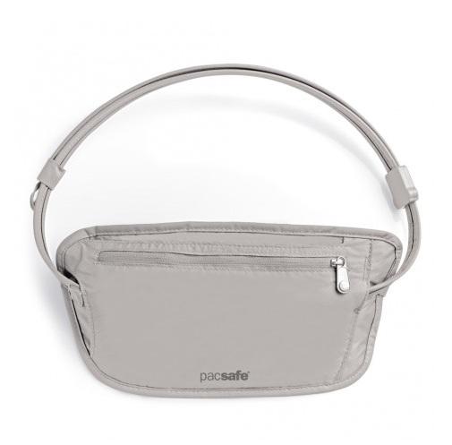 澳洲 PacSafe coversafe 100 貼身防盜腰包 灰|隱藏式|錢包|旅遊|防水內袋 PE104GY