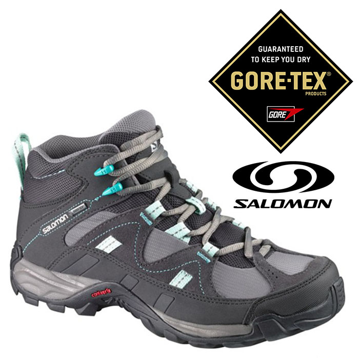 Salomon 女 Gore-Tex 防水登山 健行鞋 MANILA MID『灰』367108