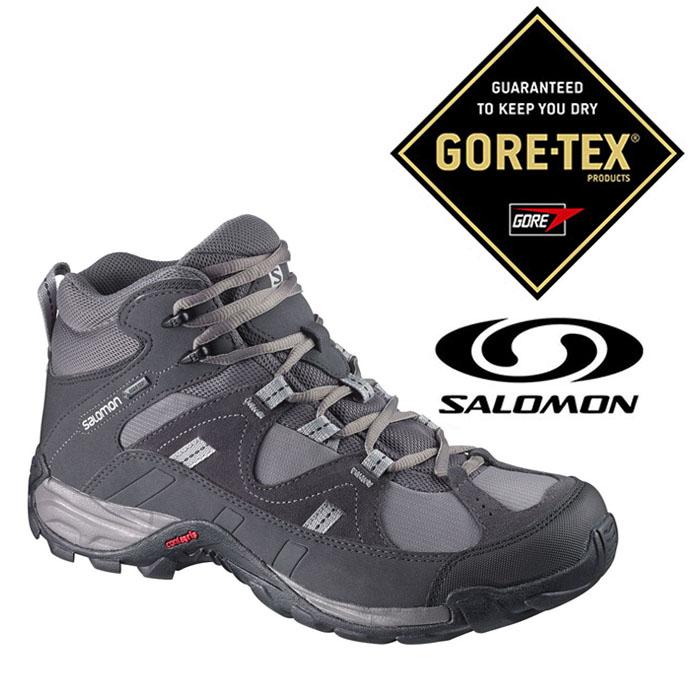 Salomon 男 Gore-Tex 防水登山 健行鞋 MANILA MID『灰』368798