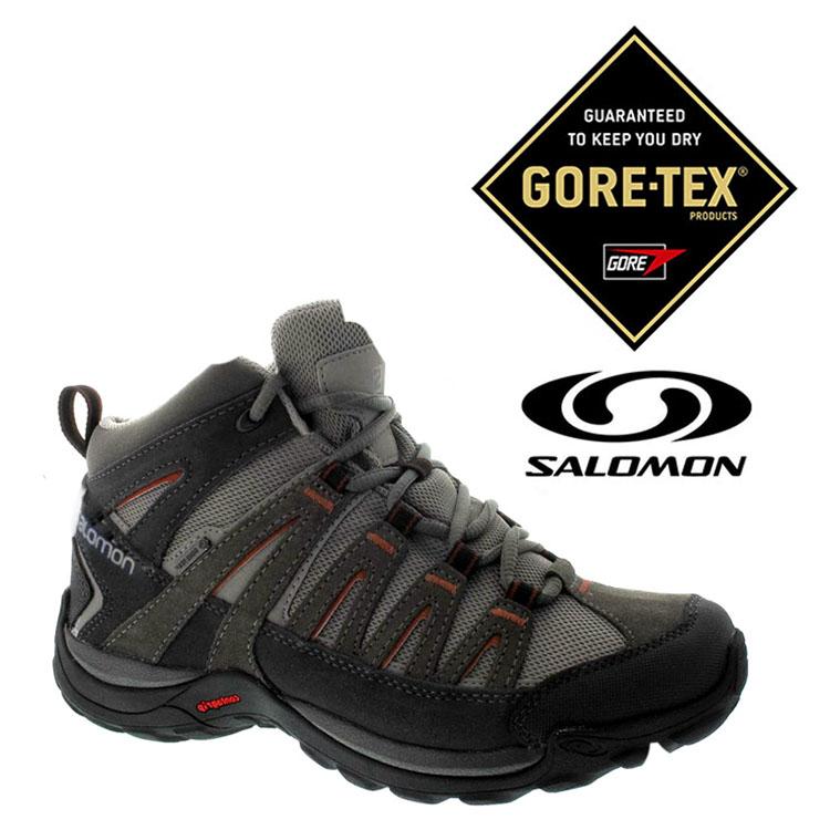 Salomon 男 Gore-Tex 中筒 防水登山健行鞋 NORWOOD MID『柏油灰/瀝青』373169|登山鞋