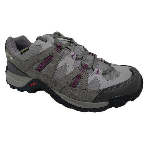 Salomon EXODE LOW 女GTX登山健行鞋 淺灰/紫 361673 (原台中秀山莊)