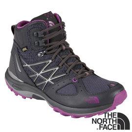 The North Face 女 GORE-TEX中筒輕量登山鞋 暗影灰/拜占庭紫 CDM7