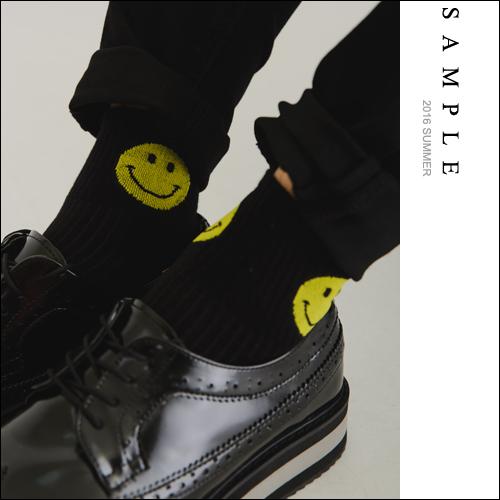 短襪 微笑笑臉圖案【AS16623】- SAMPLE